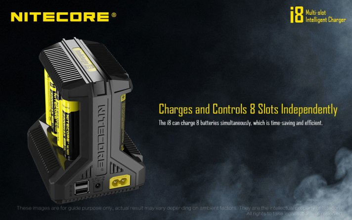 Charges and Controls 8 Slots Independently